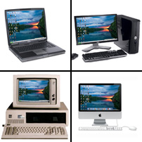 Image of the web desktop on multiple computers.