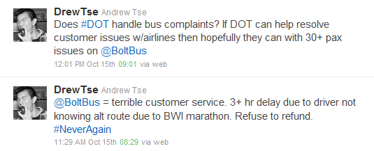 BoltBus Complaint on Twitter 3