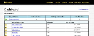 Screenshot of the project dashboard.